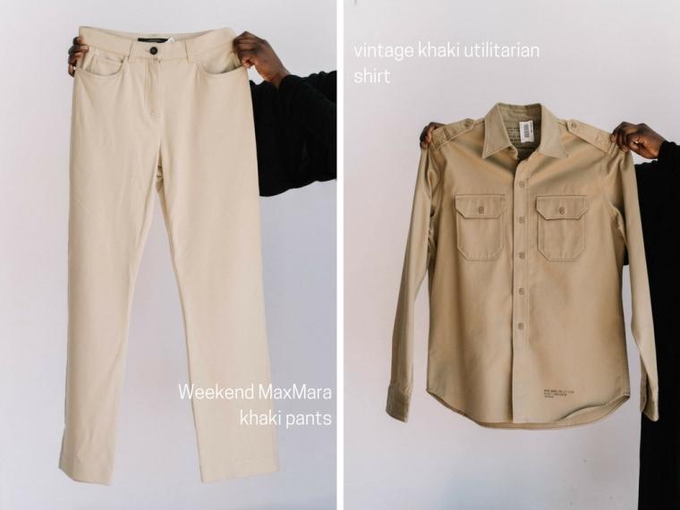 Weekend MaxMara khaki pants
