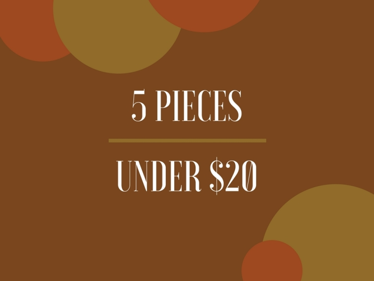 Common Sort | 5 Pieces Under $20